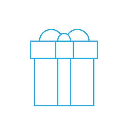 Gift Box Thin Line Minimalistic Hand Draw Present Outline Icon
