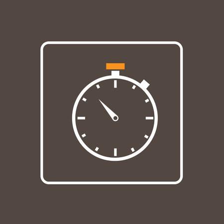 simple logo: Clock Icon Thin Line Simple Logo Minimalistic Style Vector Illustration Illustration