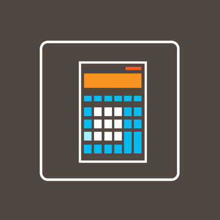 simple logo: Calculator Icon Thin Line Simple Logo Minimalistic Style Vector Illustration Vectores