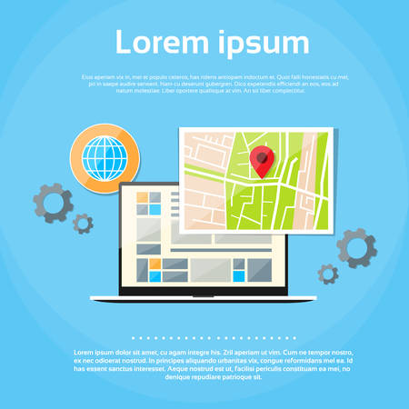 Laptop world map gps globe navigation vector illustration royalty laptop world map gps globe navigation vector illustration royalty free cliparts vectors and stock illustration image 47912269 gumiabroncs Choice Image