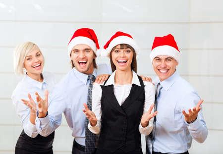 personas trabajando en oficina: grupo de empresarios sonrisa oficina de trabajo, la gente de negocios