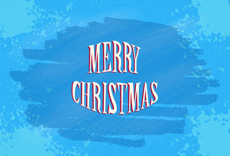 frosted window: Window Blue Frost Ice Merry Christmas Happy New Year Banner Card Vector Illustration Vettoriali