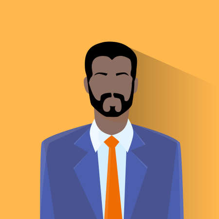 african boys: Profile Icon Male Avatar Man African American Hipster Style Fashion Cartoon Guy Beard Portrait Person Silhouette Face Flat Design Vector Illustration Illustration