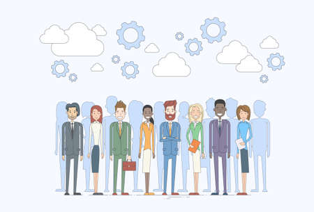 diverse business team: Business People Group Human Resources Team Diverse Concept Vector Illustration Illustration