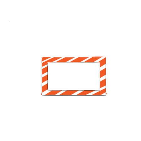 scarp: Sketch Frame Hand Draw Vintage Vector Illustration Illustration