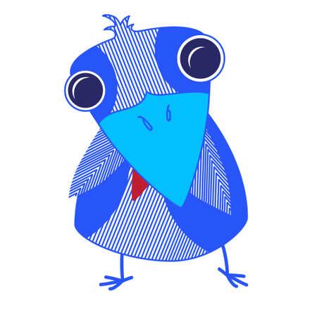 Cartoon Raven, Crow Isolated Flat Vector Illustration