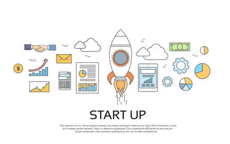 Start Up Concept New Business Plan Vector Illustration