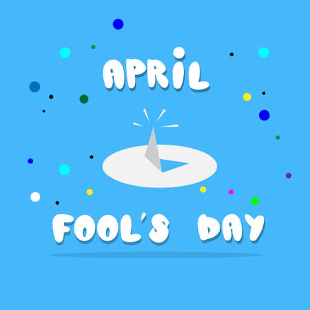 drawing pin: Drawing Pin First April Fool Day Happy Holiday Flat Vector Illustration
