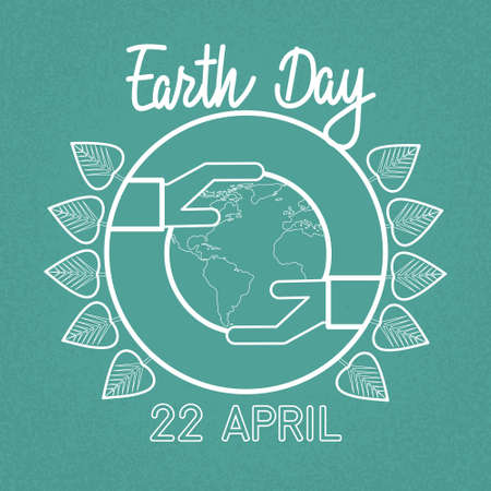 world in hand: Earth Day World Hand Hold Globe Ecological Protection Concept Sketch Vector Illustration Illustration