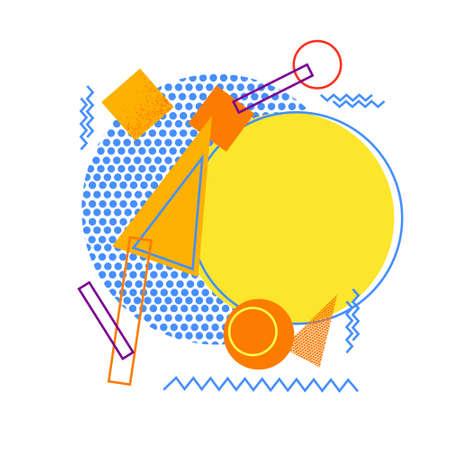 figuras abstractas: Formas geométricas coloridas abstractas de personas ilustración vectorial