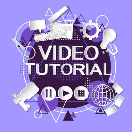 editor: Video Tutorial Editor Concept Modern Technology Abstract Background Vector Illustration Illustration