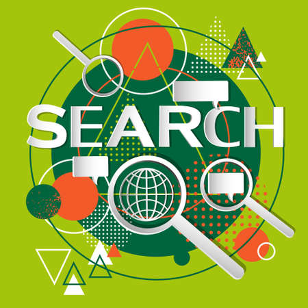 internet search: Search Information Online Internet Technology Abstract Background Vector Illustration