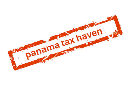 law of panama: Panama Tax Haven Red Stamp Grunge Sign Vector Illustration Illustration