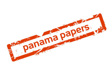 Panama Papers Red Stamp Grunge Sign Vector Illustration