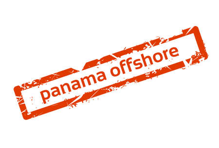 law of panama: Panama Offshore Red Stamp Grunge Sign Vector Illustration