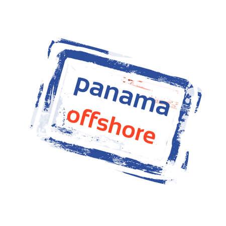 bandera de panama: Marino Bandera de Panamá sello grunge signo ilustración vectorial