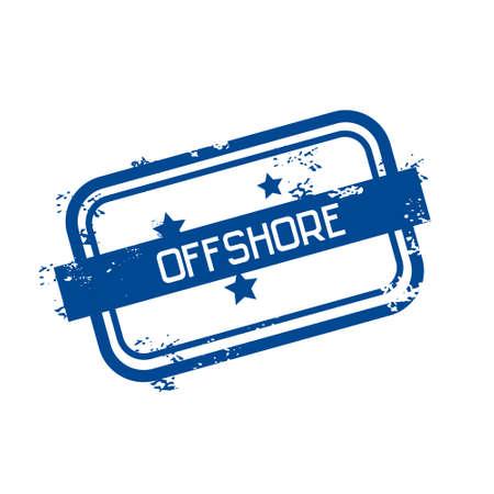 Offshore Panama Flag Stamp Grunge Sign Vector Illustration Illustration