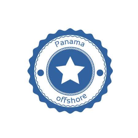 law of panama: Offshore Panama Flag Circle Stamp Sign Vector Illustration Illustration