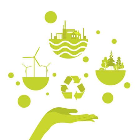 open palm: Open Palm Green Energy Concept