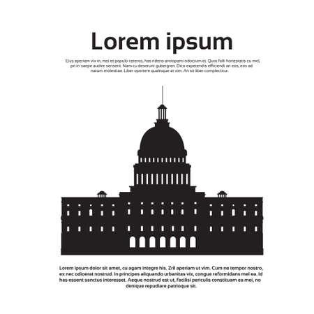 capital building: Capitol Building United States Of America Senate House Washington Vector Illustration