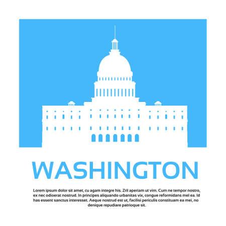 Kapitol Vereinigte Staaten von Amerika Senate House Washington Vector Illustration Vektorgrafik