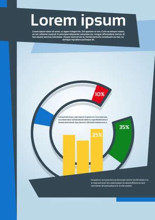 portadas libros: Pie Diagram With Percentage Financial Graph Flyer Cover Design Page Template Vector Illustration