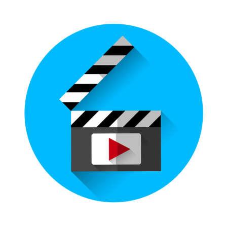 film industry: Clapper Film Industry Concept Flat Vector Illustration