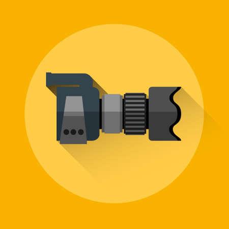 flimsy: Professional Camera Icon Flat  Vector Illustration