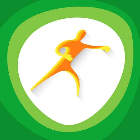 sportsman: Box Sportsman Boxer Sport Game  Competition Icon Vector Illustration