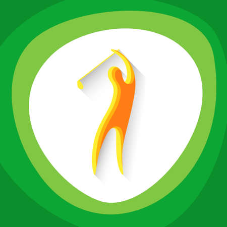 golf player: Golf Player Sport Game  Competition Icon Vector Illustration Illustration