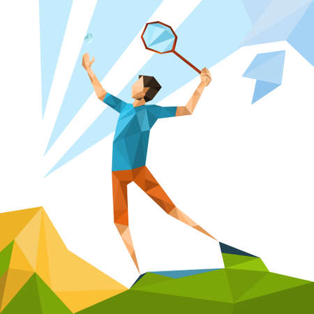 racquetball: Ilustración del jugador de tenis Deporte Competencia de juegos vectorial