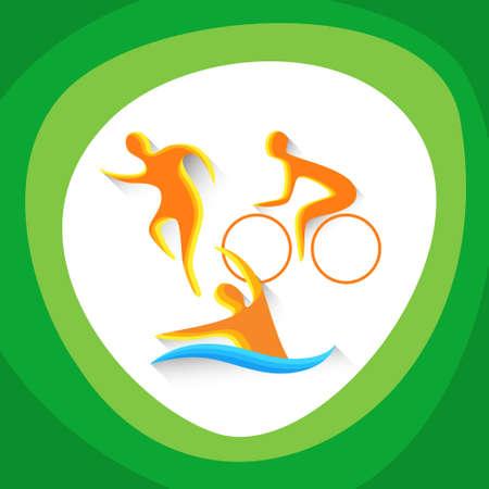 triathlon: Triathlon Sport Competition Icon Vector Illustration Illustration