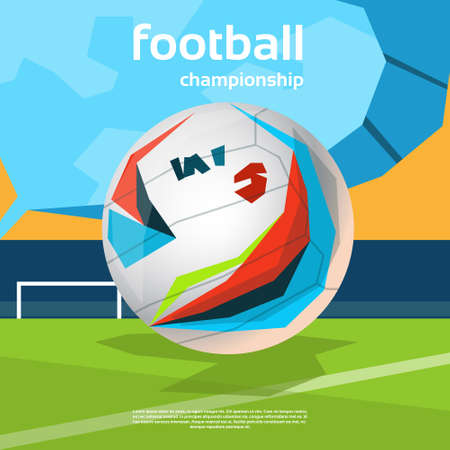 judge players: Football Championship Colorful Banner Flat Vector Illustration