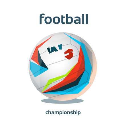 championship: Football Championship Colorful Banner Flat Vector Illustration