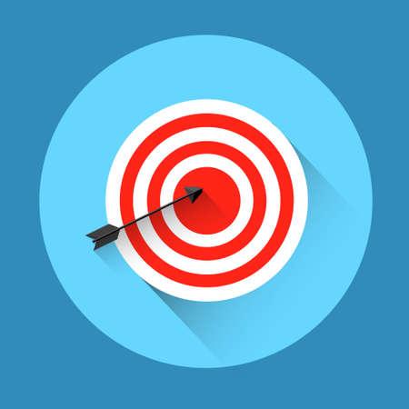 target arrow: Target Arrow Get Aim Business Concept Icon Flat Vector Illustration Illustration