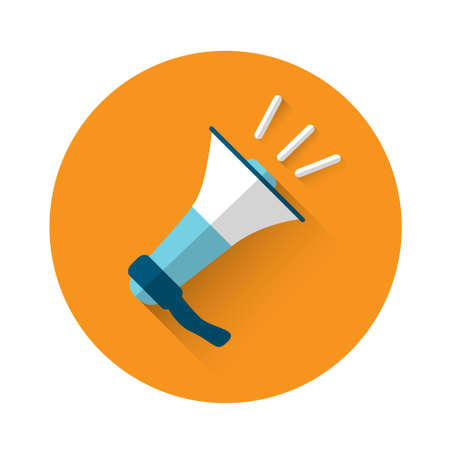 announcement message: Megaphone Icon Loudspeaker Flat Vector Illustration