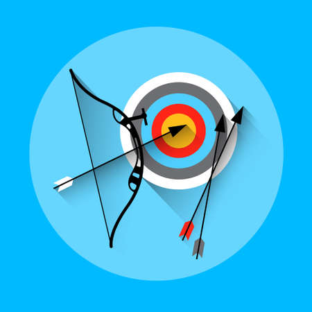 active arrow: Archery Arrow Target Equipment Sport Icon Flat Vector Illustration Illustration