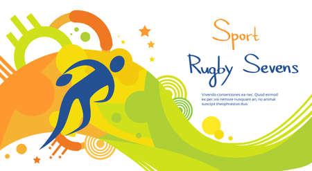 Joueur de Rugby match Athlète Sport Jeu Concours plat Illustration Vecteur Vecteurs