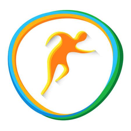 simplicidad: Ilustración de atletismo Runner Atleta Deporte Competencia de juegos del icono del vector
