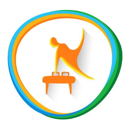 sportman: Sport Game  Gymnastics Athlete Competition Icon Vector Illustration Illustration