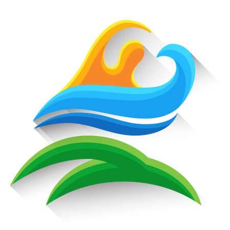 Illustrazione Nuoto Sport Gioco atleta concorrenza Icon Vector