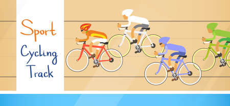 contestant: Cycle Racing Athlete Competition Sport Racetrack Flat Vector Illustration