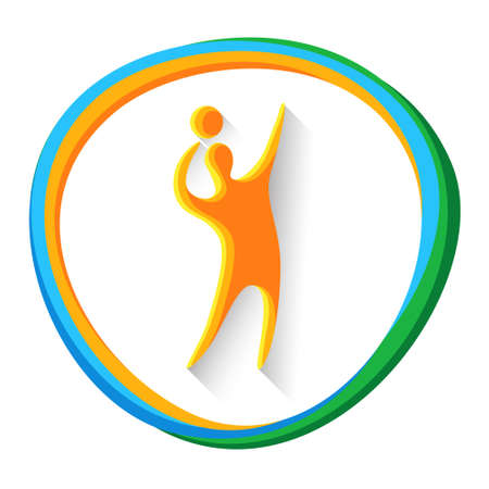 sportman: Volleyball Player Sport Game  Competition Icon Vector Illustration Illustration