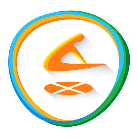 Trampoline Gymnastics Sport Competition Icon Vector Illustration