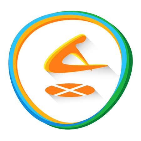 competitor: Trampoline Gymnastics Sport Competition Icon Vector Illustration