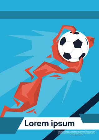 Football Ball Game Championship Colorful Vector Illustration