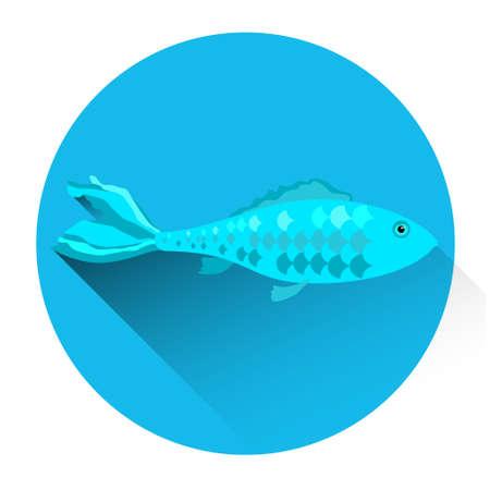 bream: Fish Fresh Food Icon Flat Vector Illustration Illustration