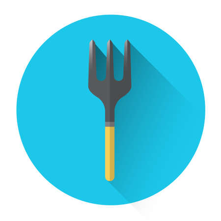 backyard work: Rake Farming Icon Flat Vector Illustration Illustration