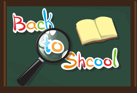 school class: Class Board Back To School Education Banner Flat Vector Illustration Illustration