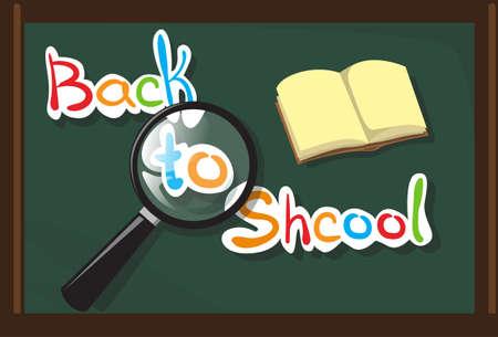 Class Board Back To School Education Banner Flat Vector Illustration Illustration